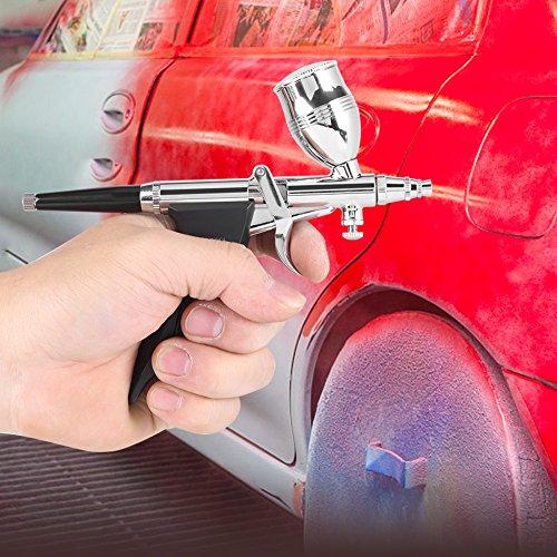 GOTOTOP Spritzpistole Airbrush Airbrushpistole Lackierpistole Sprühpistole Airbrush Set 0,3mm 0,5mm 0,8mm Sprühdüsen