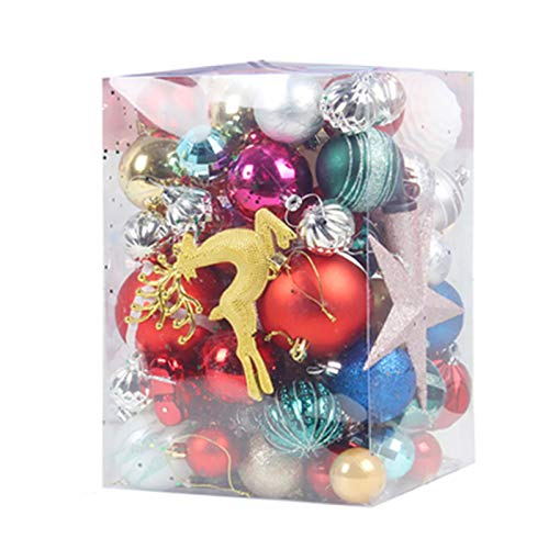 Heizung Bolas de Navidad 60-70 Pedazos de árbol de Navidad de Las Decoraciones de Las chucherías for la decoración del Banquete del Banquete de Boda de Vacaciones