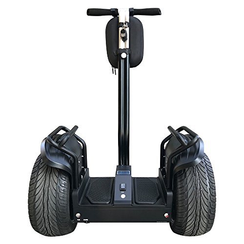 Smart Self Balance Scooter Personal Transporter 19 inch Super Street Tires (SS Black)