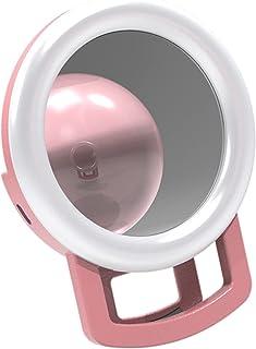 MERIGLARE Luz de anel de selfie, luz de preenchimento de selfie portátil recarregável com 12 LED para fotografia de smartp...