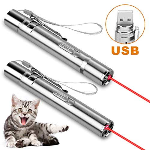 Zacro Catcher Pointer Toys for Cats - 2 Pcs USB Rechargeable Mini Dogs...
