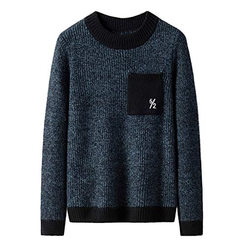 KUKICAT Pull Homme Pas Cher Automne Hiver Col Rond Manches Longues Casual Pull Homme Cardigan Sweater Outwear