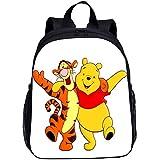 SL-YBB Winnie The Pooh Sac à dos pour enfant en nylon durable et imperméable Motif animation 13', Winnie l'ourson -11 (Bleu) - SL-YBBGHJFDDS