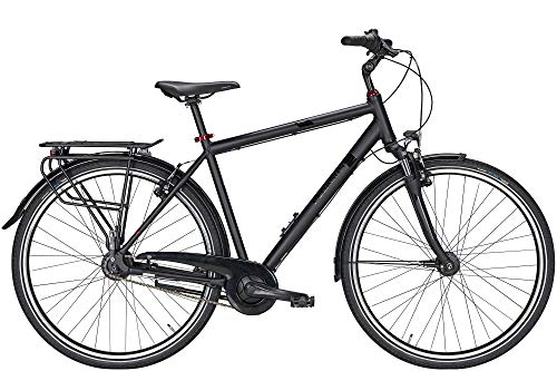 ZEG Pegasus Solero SL 7 Diamant Herrenfahrrad 7 Gang Cityrad 2020, Farbe:schwarz, Rahmenhöhe:58 cm
