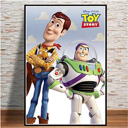 mohanshop Pintura Sin Marco Arte De Pared Toy Story 4 2019 Película Película Cartel Imagen Impresiones Lienzo Pintura para Habitación Decoración del Hogar A354 (50X70Cm) Sin Marco