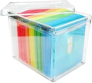 Lwieui Caja de Almacenamiento de CD 120 Capacidad de Almacenamiento de CD Caja de la Caja de DVD de Almacenamiento de Titu...