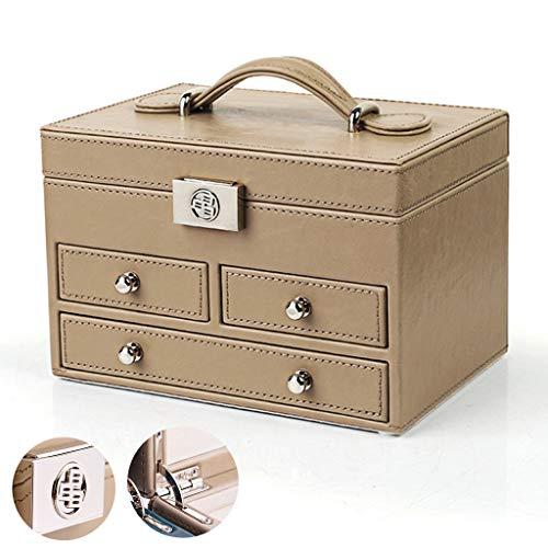 Lederen juwelendoos Afsluitbare juwelen Opbergdoos Ring Ketting Doos Sieraden Organisatie Doos Bruiloft Gift