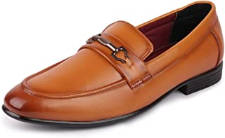 FAUSTO Men's Formal Penny Loafer Shoes