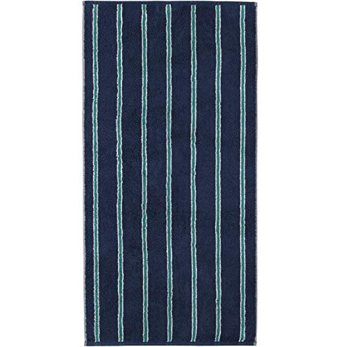 Cawö Home Toallas de mano Polo 365 azul marino – 14 toallas de mano 50 x 100 cm