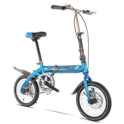 GHH Faltbares Fahrrad 14/16 Zoll Herren Damen Ultraleicht klappfahrrad Scheibenbremsen leicht und robust Klapprad,14