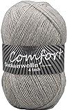 100gr Comfort Sockenwolle Strumpfwolle Uni - 4-fädig - 100gr Knäul - 420m Lauflänge - Nadelstärke 2,5-3,0mm-Klassiche traditionelle Zeitlose Farben (Mittelgrau)