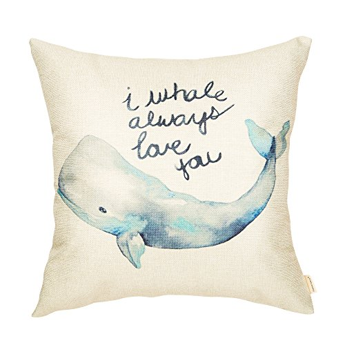 Fahrendom Watercolor I Whale Always Love You Cute Lover Decoration Nursery Sign D
