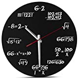 QIroseonly Math Wall Clock - Unique Wall Clock - Each Hour Marked by a Simple Math Equation -Mathematical Equations Wall Clock (Black Equation 3)
