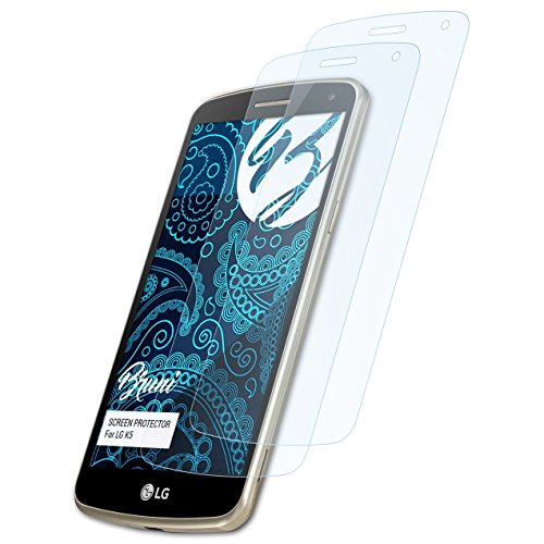 Bruni Schutzfolie kompatibel mit LG K5 Folie, glasklare Bildschirmschutzfolie (2X)