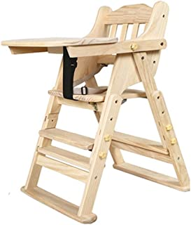 Jiamuxiangsi- Children s Dining Chair Solid Wood Baby Dinner Table Dining Chair Infant Dining Chair High Stool -baby chair  color