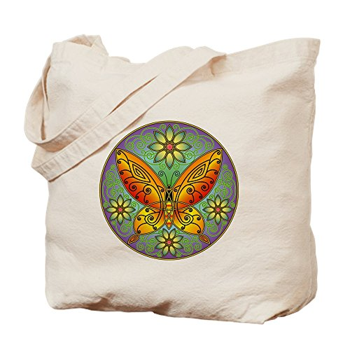 CafePress Celtic Butterfly (Orange) Natural Canvas Tote Bag, Reusable Shopping Bag