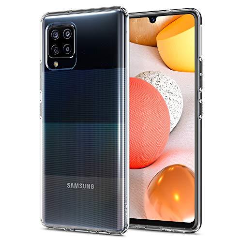 Spigen Liquid Crystal Hülle Kompatibel mit Samsung Galaxy A42 5G -Crystal Clear