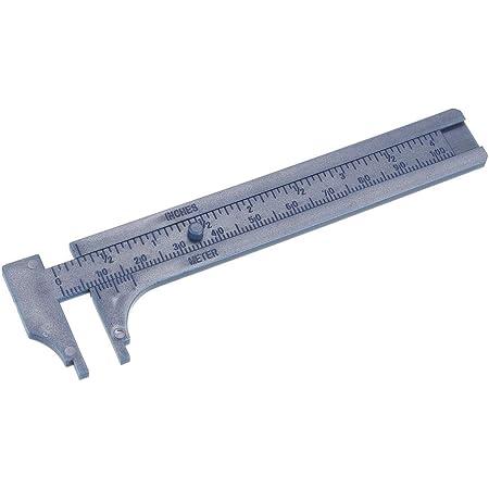 "Mini Portable Size 4/""100mm Brass Caliper Slip Vernier Ruler Measure Inches//Meter"