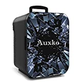 AUXKO Burst Black Personal Mini Fridge 15 Liter/21 Can Portable Desk Refrigerator, Compact Cooler and Warmer for Bedroom, Dorm, Office, Nursery, Car, Travel, Food, Drink