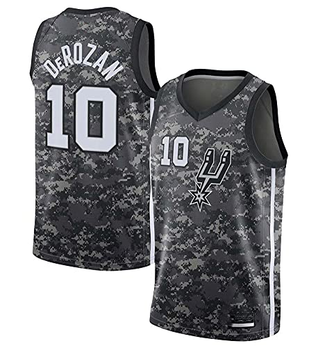 AGLT Camiseta para hombre, NBA Balance n#10 Derozan Baloncesto ropa camiseta, verano al aire libre casual manga corta, gris, S