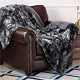 Bedsure Faux Fur Reversible Tie-dye Sherpa Throw Blanket for Sofa, Couch and Bed...