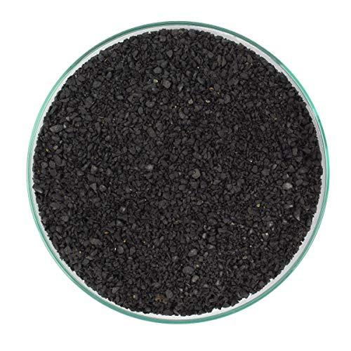 RETNE Natur Schwarz Basalt Aquarium Dekoration Kies Bodengrund Körnung 1-3mm (30Kg)