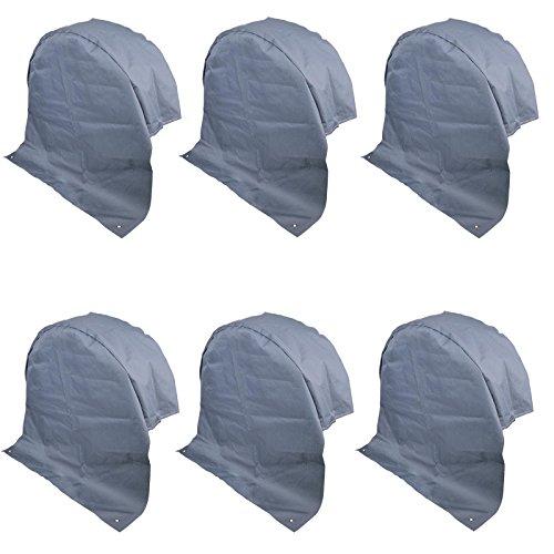 6 housses de protection de roue pour caravane Couleur grise Protection Anti-UV Tissu en polyester avec œillets d'ancrage