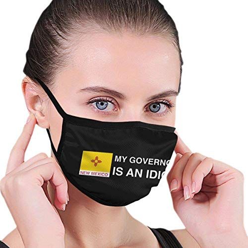 Face Scarf My Governor Is An Idiot New Mexico Nose Air Pollution Cozy Sunscreen With 2 Filters Face Protection Soft Personalized Anime Reusable Adjustable Face Scarf Washable Windp