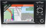 Auto Sat Nav Car Stereo HD IPS Pantalla táctil Android 10.0 Compatible con Audi A4 2003-2011 SWC Online/Offline Map GPS Head Unit Player Multimedia Player,4 Core WiFi 1+16GB