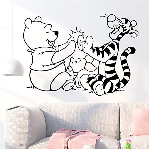 Greneric Winnie the Pooh and Tiger Wall Sticker for Kids Room Home Decor Cartoon Wall Tattoo Sticker Vinyl Mural Art DIY Poster