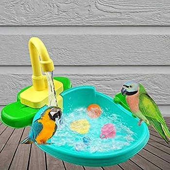 Conteneur de bain d'oiseaux Baignoire d'oiseaux Perruche Conteneur de bain d'oiseaux pour oiseaux Étui de bain Bain d'oiseaux pour divers types d'oiseaux et petits animaux Nettoyage facile Fournitures