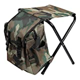 EasyE Multi-Function Camouflage Backpack Folding Chair Camping Fishing Stool Portable