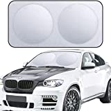 XBRN Car Windshield Sun Shade for Car Foldable Car Front Window Sunshade,210T Reflective Fabric Blocks UV Rays Sun Visor,Keep Your Vehicle Cool Fits Sedans SUV Truck Windshields 71 x 37 inch