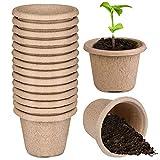 SUNSK Macetas Biodegradables Bandejas De Plántulas Macetas de Turba Tazas De Vivero para Plantas Macetas De Cultivo Tazas para Criar Plantas 15 Piezas
