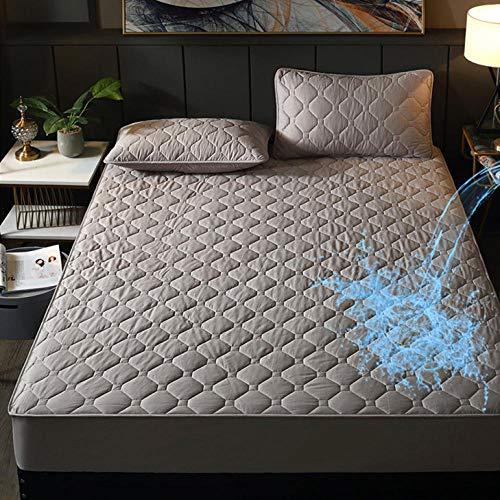 Resuxi matrasbeschermer waterdicht 90 x 224, zuiver katoen waterdicht gestikt eendelige luierpad matrasbeschermer stofbescherming