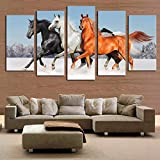 Modular HD Printed 5 Panel Landscape Posters Home Decor Canvas Painting Wall Picture for Living Room(size2)