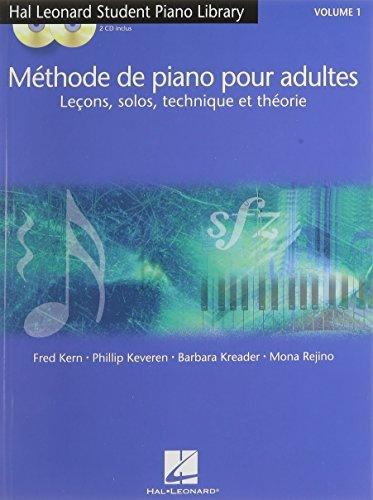 Methode de Piano pour Adultes Volume 1 + 2 CDs