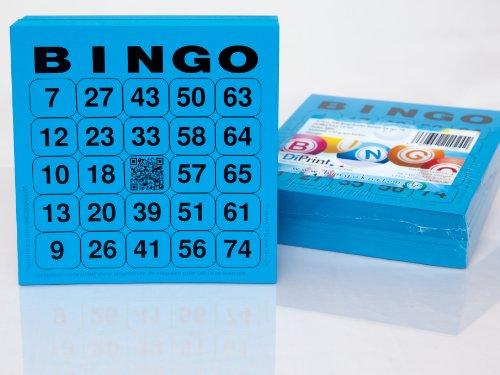 200Grandes cartes de bingo pour les seniors 24en 75avec Joker