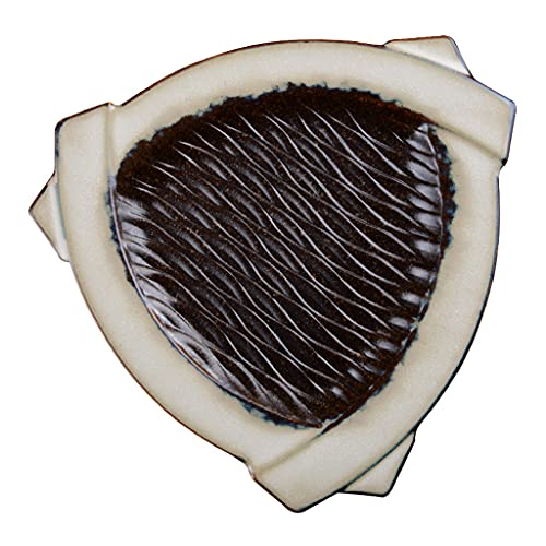 Plato creativo triangular para sushi de 10 pulgadas, productos de cerámica, artesanía bajo vidriado, puede contener ensaladas, pasta de frutas, se puede usar en el gabinete de desinfección del lava