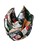 Etwoa's Literary Book Covers Infinity Scarf Circle Loop Scarf