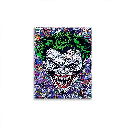 STTYE Joker Ritratto Divertente Bagno Poster Pop Art Film Poster Opera Moderna Regalo di Compleanno Divertente Idee Regalo 50,8 x 76,2 cm