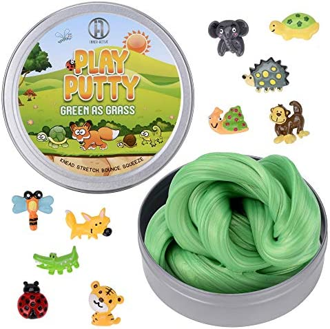Inner Active Play Putty Therapy Putty for Kids with Charms Green as Grass Theraputty Medium product image