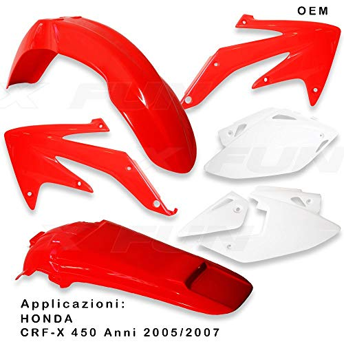 x-fun kit Plásticos HON crf 450X (05> 07) OEM Honda