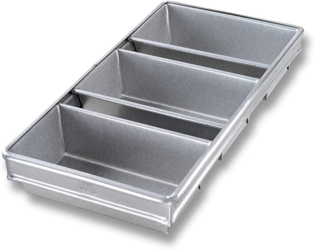 Chicago Metallic Bakeware Aluminized Steel Glazed 3 Strap Loaf Pan Set