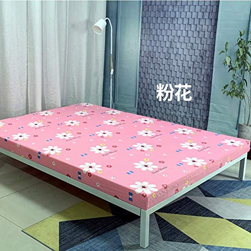 Schwammbettmatratze, zusammenklappbare, aufrollbare, Dicke Schlafunterstützungs- und druckentlastende, atmungsaktive Matratze für Einzelwohnheime - 5 x 90 x 200 cm (2 x 35 x 79 Zoll)