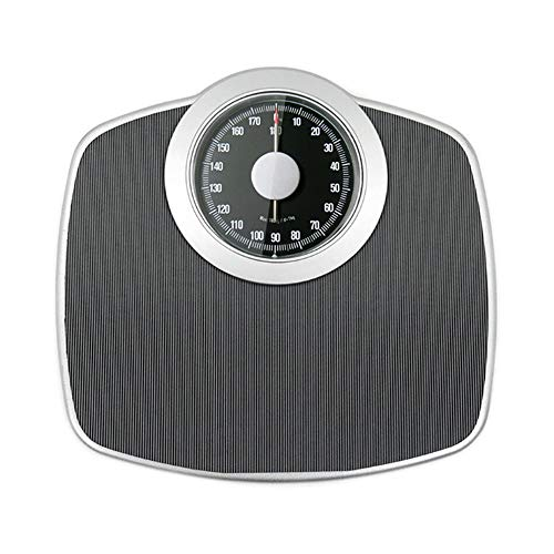 Mechanical Scale Bathroom Scales, Human Health Weight Loss Scales, Easy Read Analogue Dial, High Capacity 180kg, No Buttons/Batteries, Hassle Free