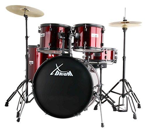 XDrum Rookie 22' Standard Schlagzeug Komplettset Ruby Red & inkl. Schule + DVD