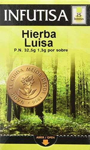 INFUTISA Hierba Luisa Infusion 25bolsitas, Negro, Estandar