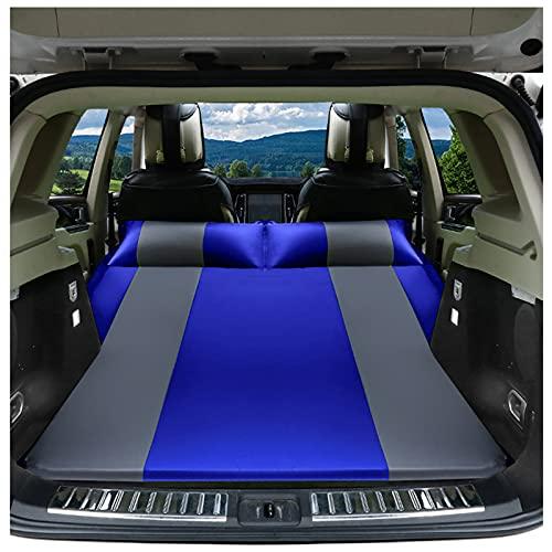 ZHPNG Cama Inflable del Coche,SUV Multifuncional Cama Inflable Automática Hinchable Impermeable Portable Adjustable Colchón para Coche para Viaje Al Aire Libre Camping,Blue
