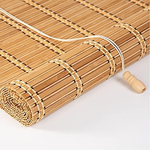 Tenda a Rullo in Bamboo Naturale,Tapparella avvolgibile Bambù,Cortina,Traslucido,Opaco,Tenda a Pacchetto Parasole per Interni/Esterni,per Finestre/Cancello/Giardino/Veranda (60x100cm/24x39in)